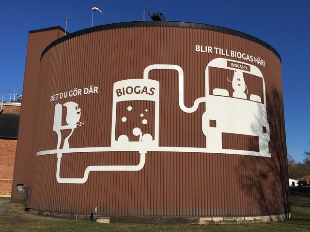 biogas from sewage